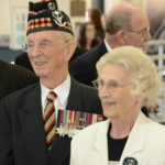 Lieutenant Colonel (retired) Davy Fairweather and his wife. He served with the Seaforths in World War II and was Commanding Officer of the Regiment twice post-war. He was my firsdt CO in the Seaforths. LCol Al Baylis, another CO of mine is behind them looking to the viewer's right.