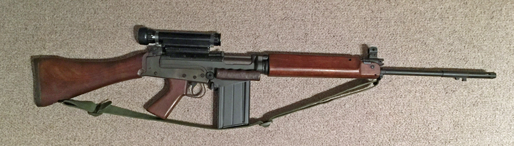 FN C1A1 rifle with Sniper Scope C1. Right side.