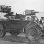 Ferret 54-82587 fitted with ENTAC anti-tank wire-guided missiles. (CAJ 1956 Vol XIX No 1 p6)