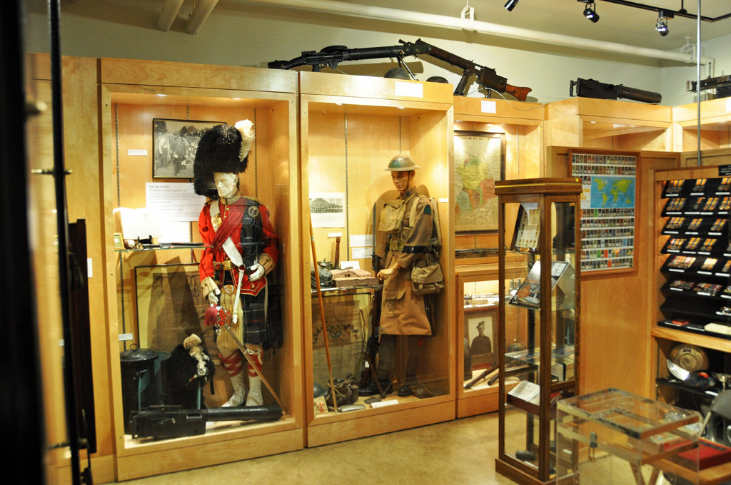 Seaforth Museum - Officer's Full Dress scarlet uniform and 72nd Bn CEF uniform July 2011.