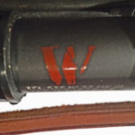 "Red ""W"" ""Waterproof""mark on a No, 32 MK. III scope. This mark is common on Mark 3 (Mk.III) scopes."