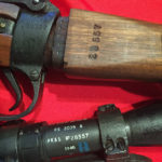 "No, 32 MK. III scope. Maker AK&S. Serial number 28557. Blue ""B"" ""Bloomed"" mark. The matching rifle shows the M47C 1944 rifle SN K33577. The butt has the scope serial number 28557 stamped on it. The rifle serial number, less the letter prefix, is stamped on the ledge which is hidden when the butt is in the rifle."