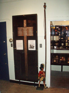 Seaforth Museum - WWI battlefield cross inside door.