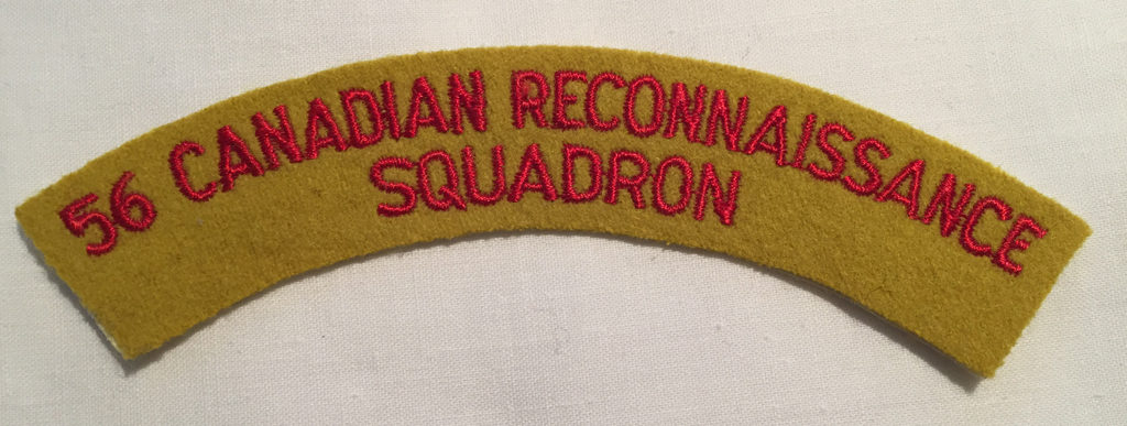 56 Canadian Reconnaissance Squadron - A very rare title as the squadron only existed for 1 year while on United Nations Emergency Force in Gaza with Ferret Scout Cars.