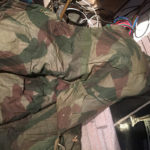 "1942 British Airborne Sleeping Bag named Pte ROSS Signaller 3 Para Bde HQ MIA 1944-06-06 Inside left ""wing""."