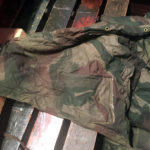 "1942 British Airborne Sleeping Bag named Pte ROSS Signaller 3 Para Bde HQ MIA 1944-06-06 Inside right ""wing"""