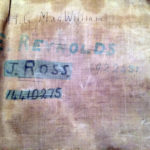 1942 British Airborne Sleeping Bag named Pte ROSS 14410275 Signaller 3 Para Bde HQ MIA 1944-06-06. After he went missing on the D-day drop, the sleeping bag was issued to Pte. E. Reynolds 4922451 and later still to Lt. H.G. MacWilliam