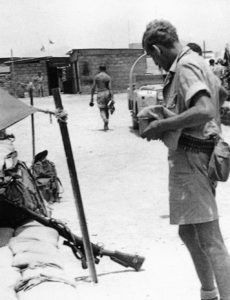SAS sniper prior to going to the Crater in Aden. The rifle is a No4 MKI T though incorrectly identified in the book as an L42A1. - Barry Davies