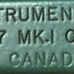 """STAND INSTRUMENT / C NO. 47 MK. I CGB. 99 GA. / C.A.L. CANADA"" Canadian Arsenals Limited was set up in 1946 to replace Small Arms Limited, also at Long Branch, Toronto, Ontario, Canada. This stand is not dated but would almost certainly be 1946. There is no issue mark. Note that the maker is C.A.L. not R.E.L."
