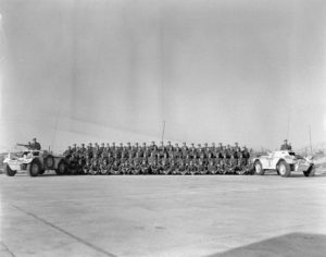 Squadron photo. On right - Ferret 54-82575 UNEF 1206 (DND ME-1068 CFJIC)