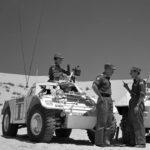 Ferret UNEF 1221 & Yugoslav M8 UNEF 863 parked in the desert for a meeting. DETAIL (DND ME-1215 CFJIL)