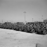 Canadian Ferret Scout Cars lined up in Egypt.