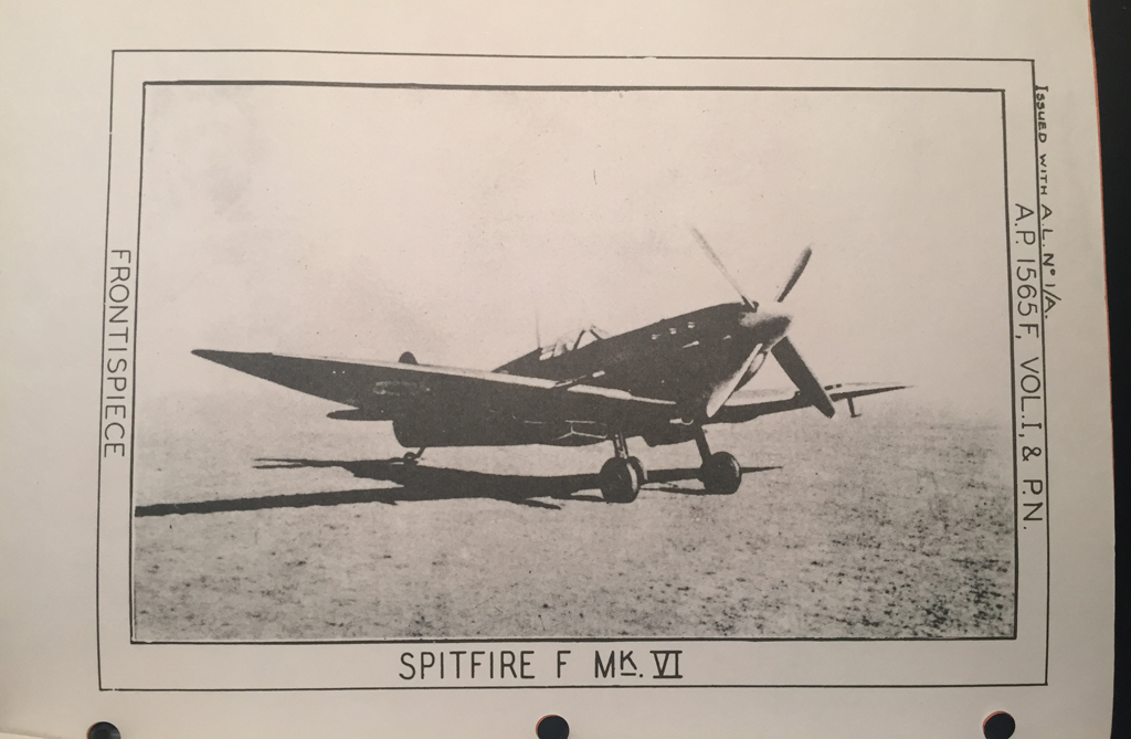 Manual SPITFIRE VI Merlin 47 enginer Pilot Notes REPRO