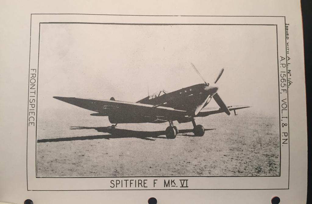 Manual SPITFIRE VI Merlin 47 enginer Pilot Notes REPRO