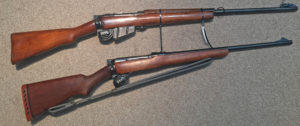 1943-1944 Scout Snipers Rifle ASC-85-4 (top) 1950s E.A.L. military (R.C.A.F. ) Survival Rifle (bottom).