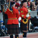 "R.C.M.P. ""E"" Division's Pipes and Drums - Drum Major (right) and Pipe Major (left). (D7100a 035)"