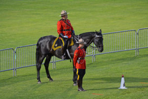 """They are watching ..."" The officer Commanding and a Ride Master watching the performance. (D7100a 290)"