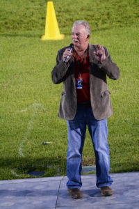 Mayor Derek Corrigan addressing the crowd. (D7100a 373X)