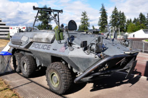 Tactical Armoured Vehicke II (TAV II) made from an ex-Canadian Army Cougar.