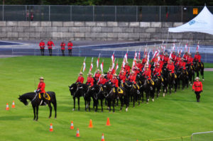 The Musical Ride enters the stadium grounds. (D90 126)