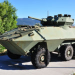 "Canadian Army armoured car called a ""COUGAR"" AVGP"