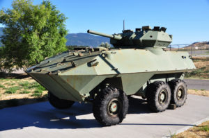 """Canadian Army armoured car called a """"COUGAR"""" AVGP"""
