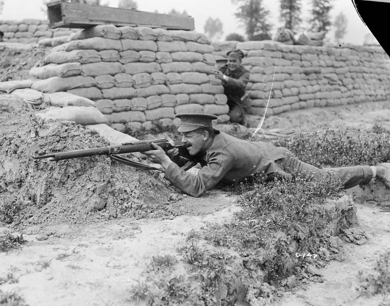 A sniper June 1916 Likelty at Mont-des-Cats France MIKAN3520927