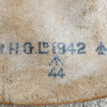 British paratroop knee pads 1942 - markings on 1