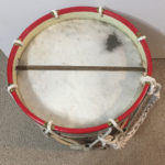 Drum, Seaforth Highlanders - Scotland Souvenir painting not service. Bottom showing wires.