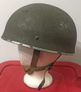 British Airborne Helmet MK II 1944 found in Scotland (1) left side