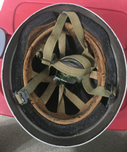 British Airborne Helmet MK II 1944 found in Scotland - insides