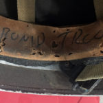 British Airborne Helmet MK II 1944 found in Scotland - part of inscription