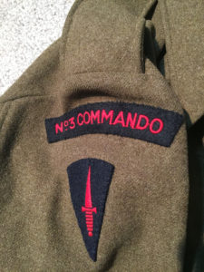 No3 COMMANDO blouse named to J R BRUCE Jr