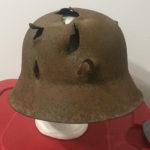 Relic M42 German helmet dug up at Kurland Pocket Latvia