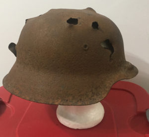 Relic M42 German helmet dug up at Kurland Pocket Latvia