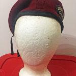 Veterans maroon beret slider slot WWII shoulder title