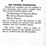 Page 9 - Information regarding mounting and wearing of decorations, campaign stars and medals, published by the Department of Veterans Affairs Canada circa 1945.