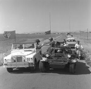 Ferret 54-82556 escorting a convoy in Cyprus 1968 (CYP68-149)
