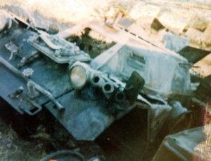 Ferret 54-82578 after destruction in a hanger firer - front.