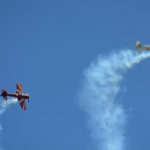 """Granley family aerobatics - """"Its hammer time!"""" Double hammerhead stalls. BBAS 2018 (Photo by Colin MacGregor Stevens)"""