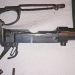 Second rifle which has no serial number. Right side with wood furniture removed.