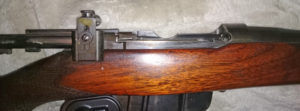 Second rifle which has no serial number. Right side with wood furniture in place.