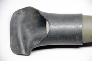 C No 67 Mk I scope 86-C as received August 2018. This is the original eye shield and it appears to be simply made from an inner tube, possibly off of a motorcycle.