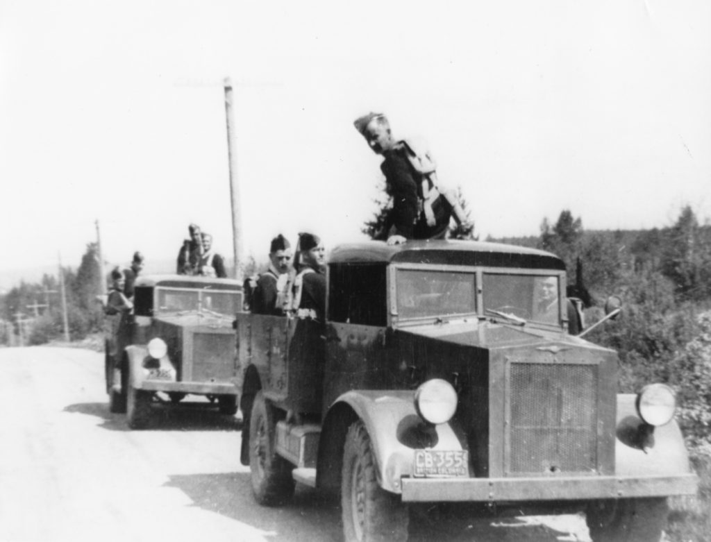 Westminster Regiment training with Chevrolet Pilot Model 15 Cwt 4X2 trucks