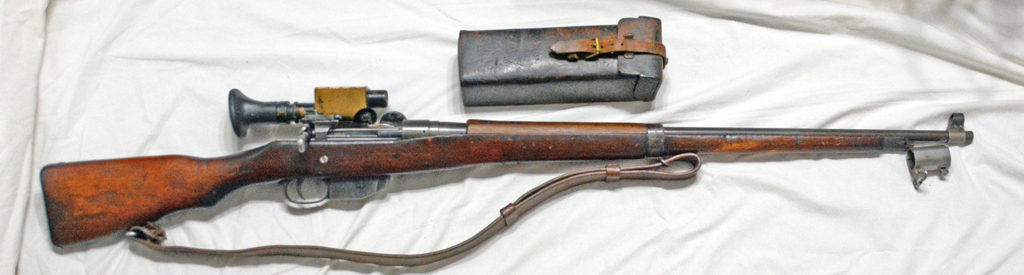Ross Mk. III sniper rifle clone,fitted with sniper scope.