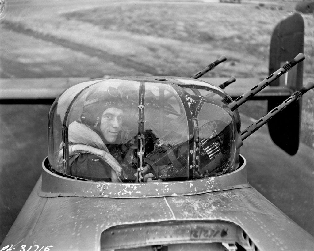 """J.W. """"Junior"""" CUMBERS in his turret 1944"""