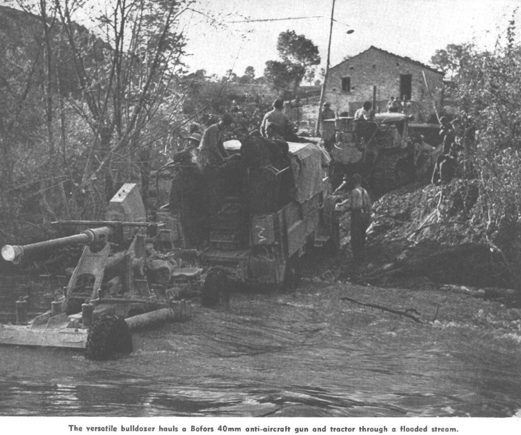 Bofors LAAT in action in Italy with the Canadian Army in WWII