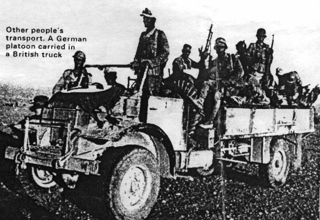 CMP 60 Cwt filled with its new owners, the German Afrika Corps troops.