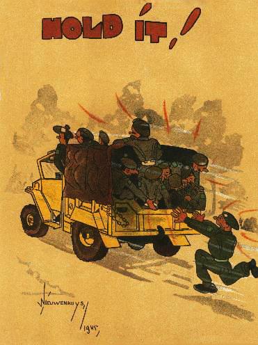 CMP - Hold it! 1945 Dutch cartoon about Canadian Liberators.