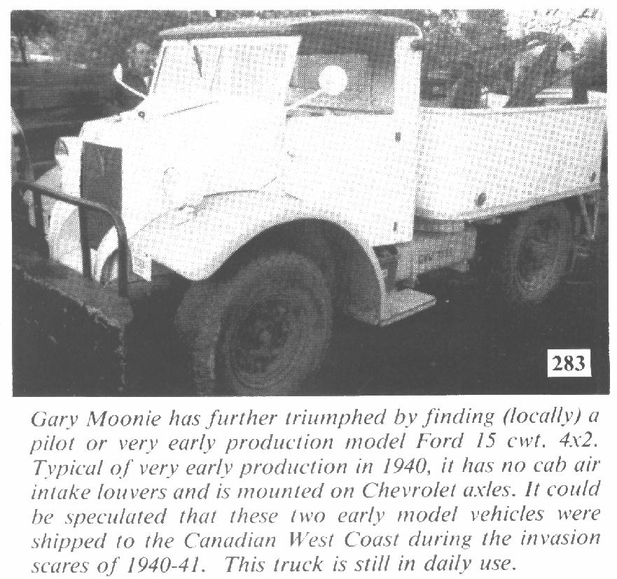 Very early Ford DND Pattern F15, now Ian Newby's in Aldergrove, BC